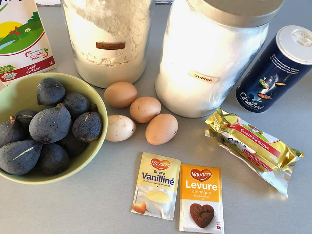 Fig clafoutis ingredients