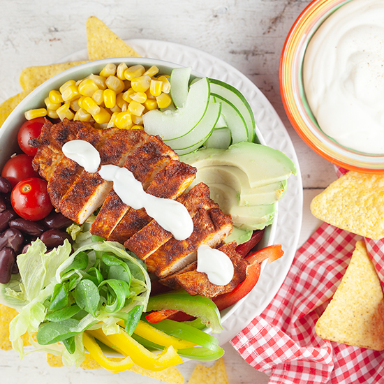 Mexican salad with chicken