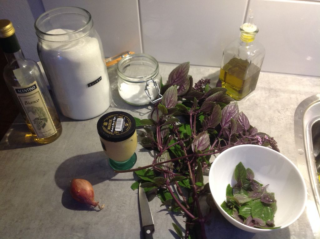 African blue basil vinaigrette ingredients