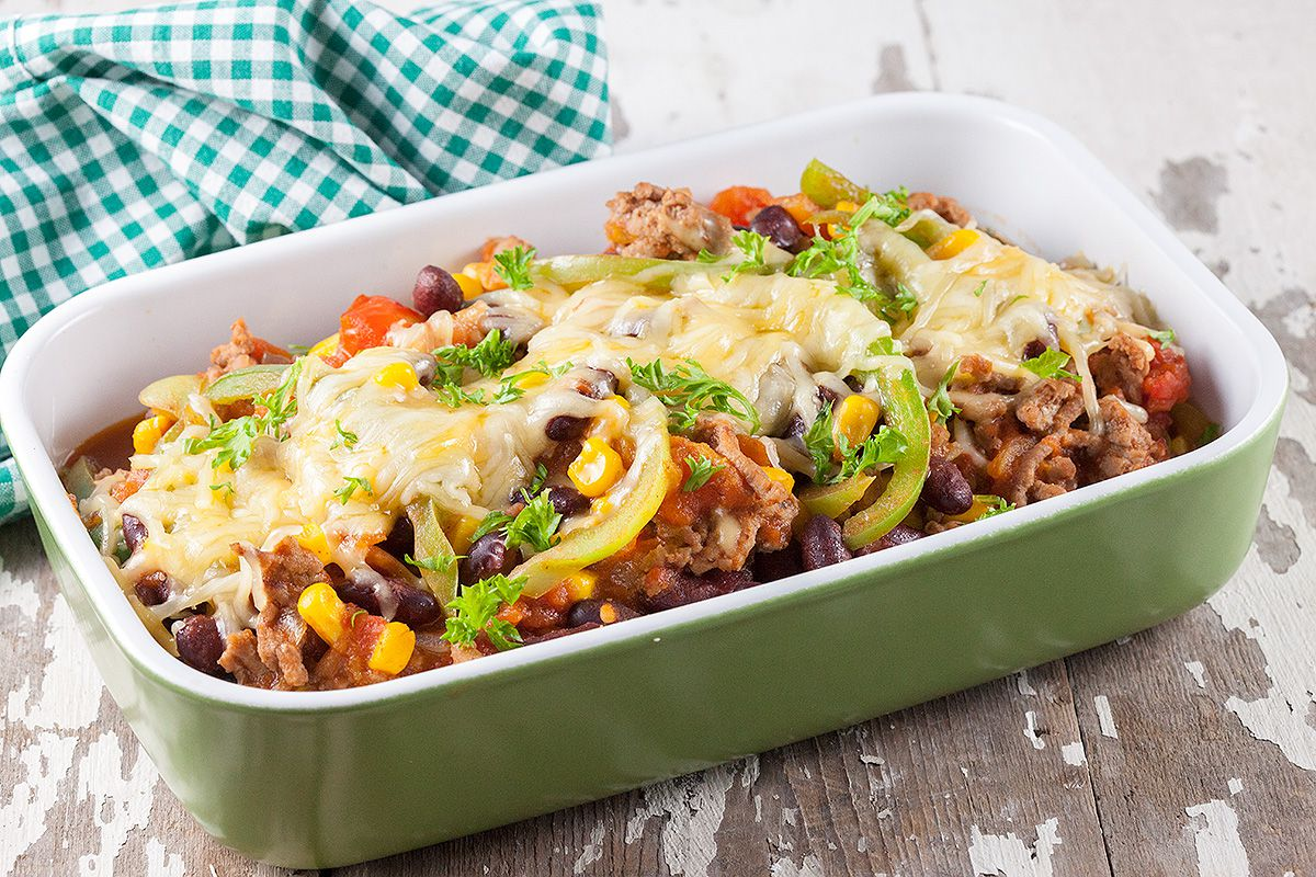Kidney beans and corn casserole