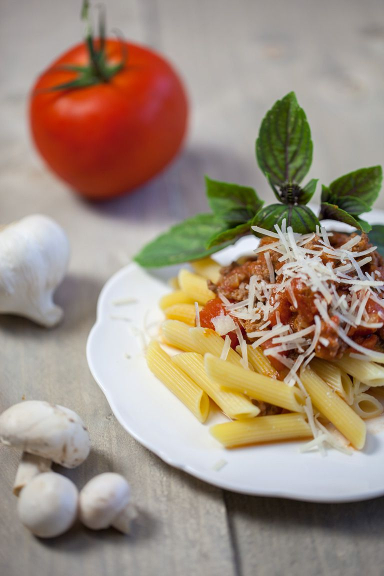 MG 6652 - Pasta penne with bolognese sauce