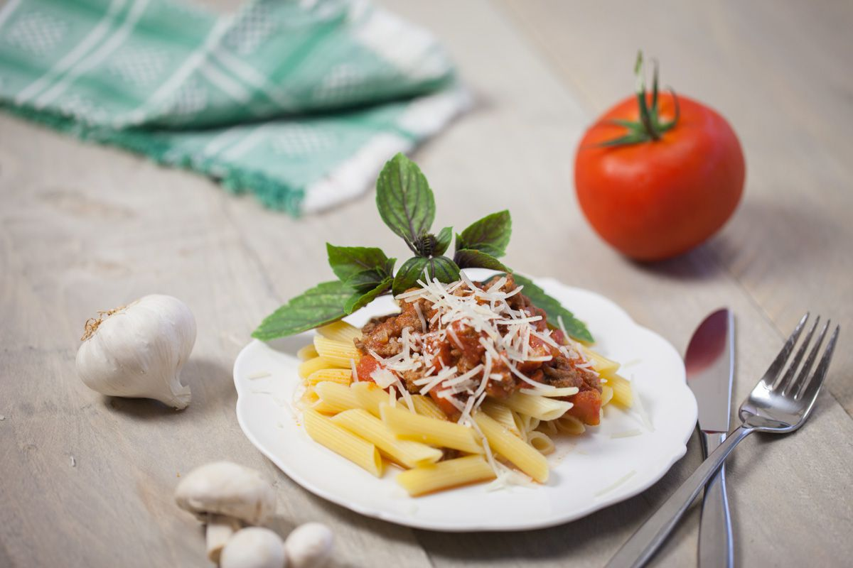 MG 6659 - Pasta penne with bolognese sauce