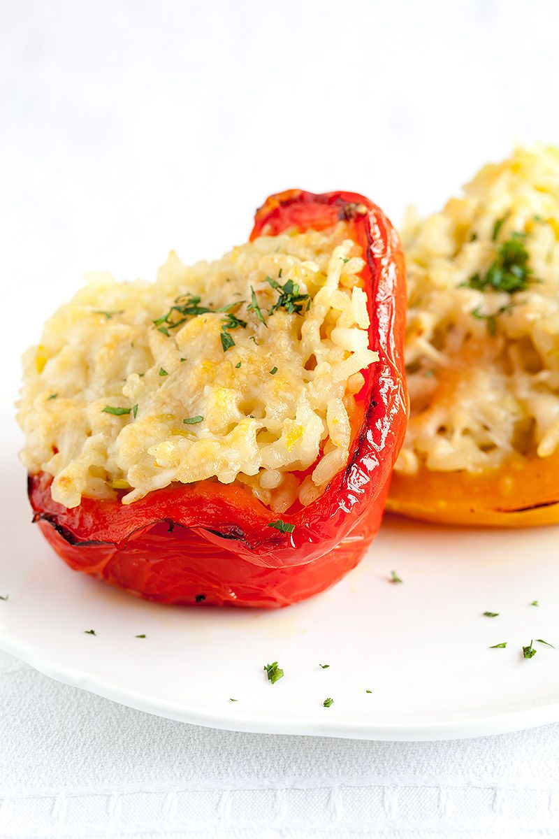 Risotto stuffed bell peppers 22 - Stuffed bell peppers with risotto rice