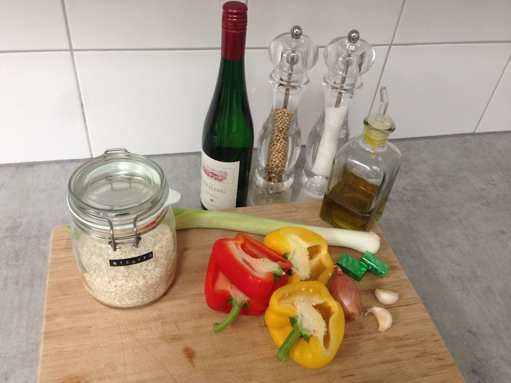 risotto bell peppers ingredients web - Stuffed bell peppers with risotto rice