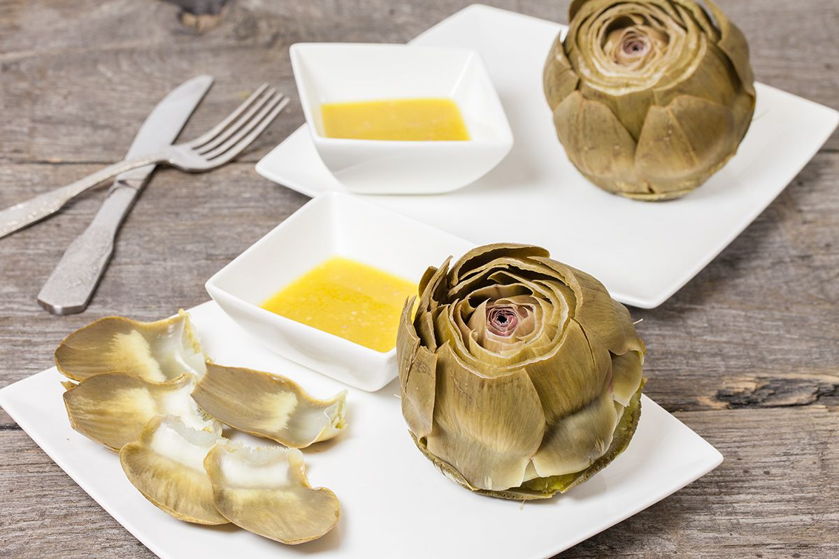 Artichoke with shallot vinaigrette - Artichoke with shallot vinaigrette