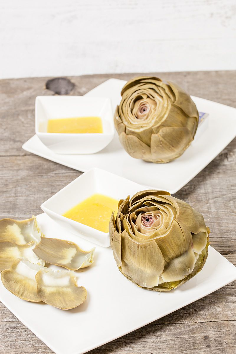 Artichoke with shallot vinaigrette2 - Artichoke with shallot vinaigrette