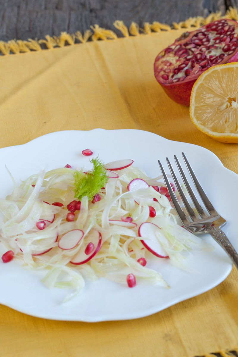 Fennel with radishes salad