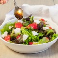 Strawberry goat cheese salad 120x120 - Fried goat cheese salad