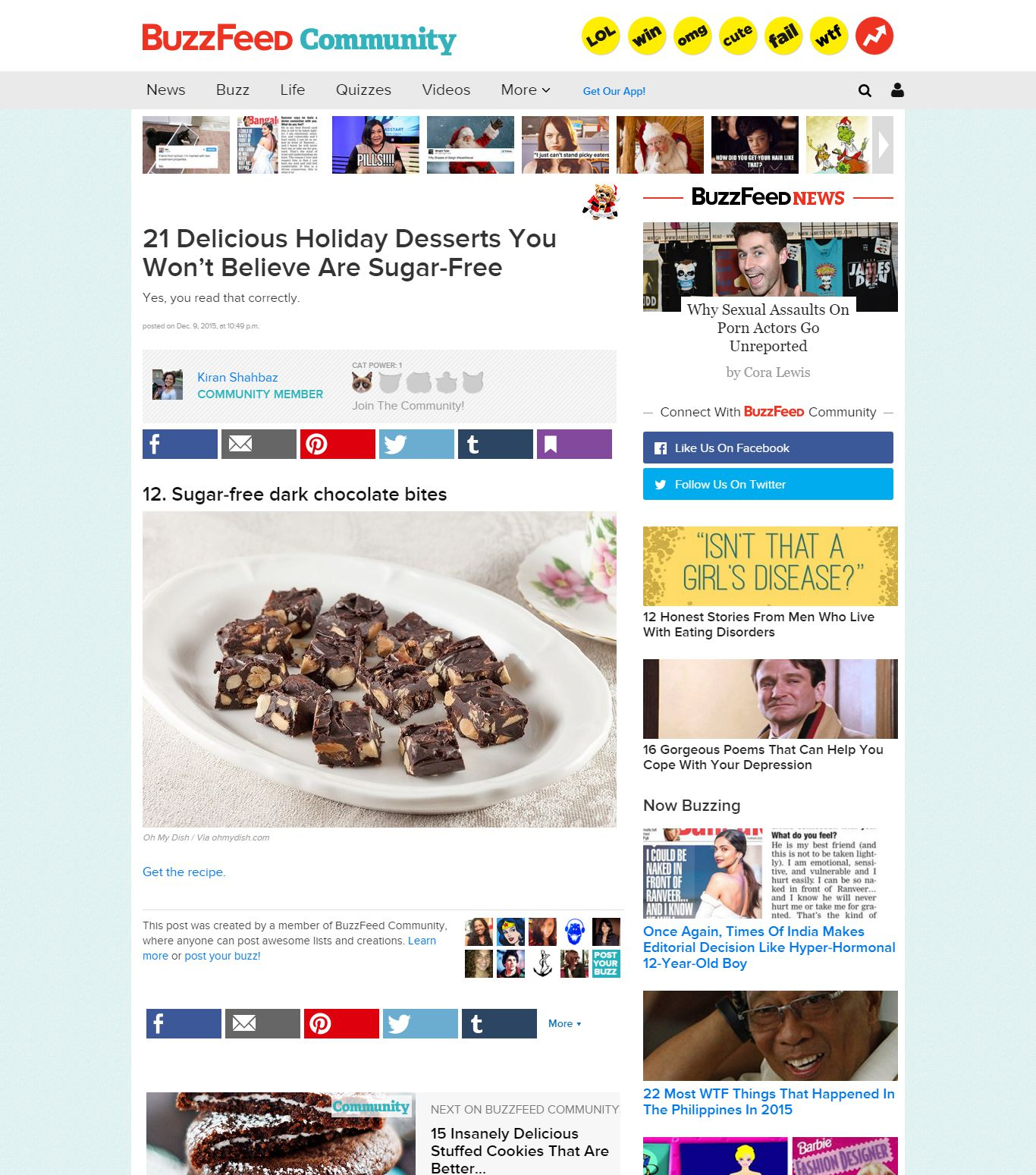 Ohmydish on Buzzfeed.com