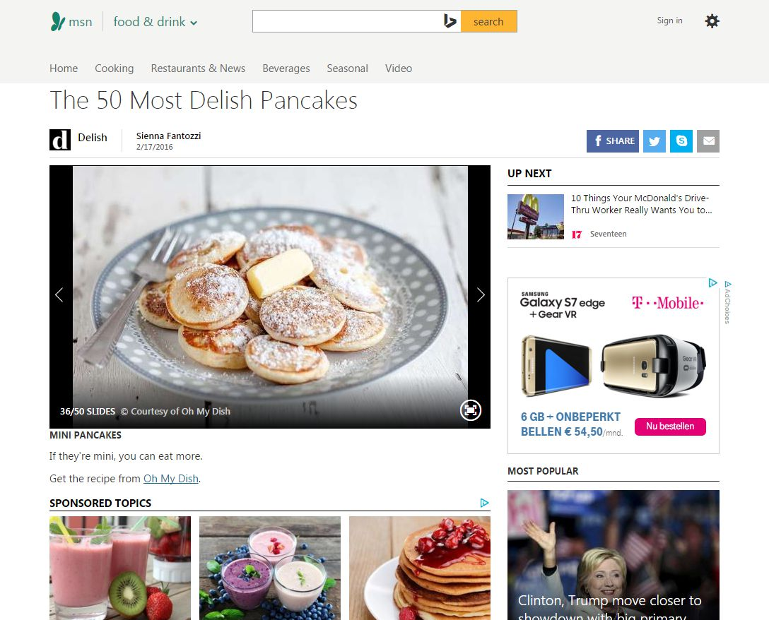 Ohmydish featured on MSN.com