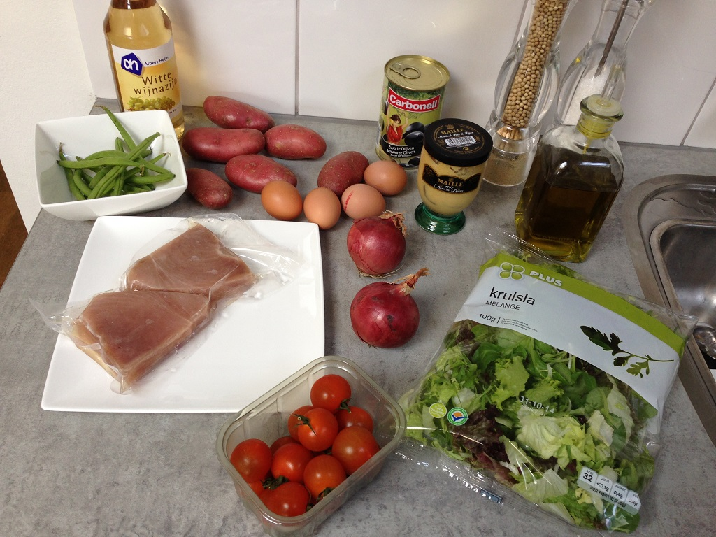 Nicoise salad ingredients