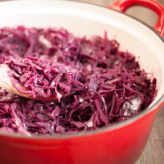 Braised red cabbage square - Braised red cabbage