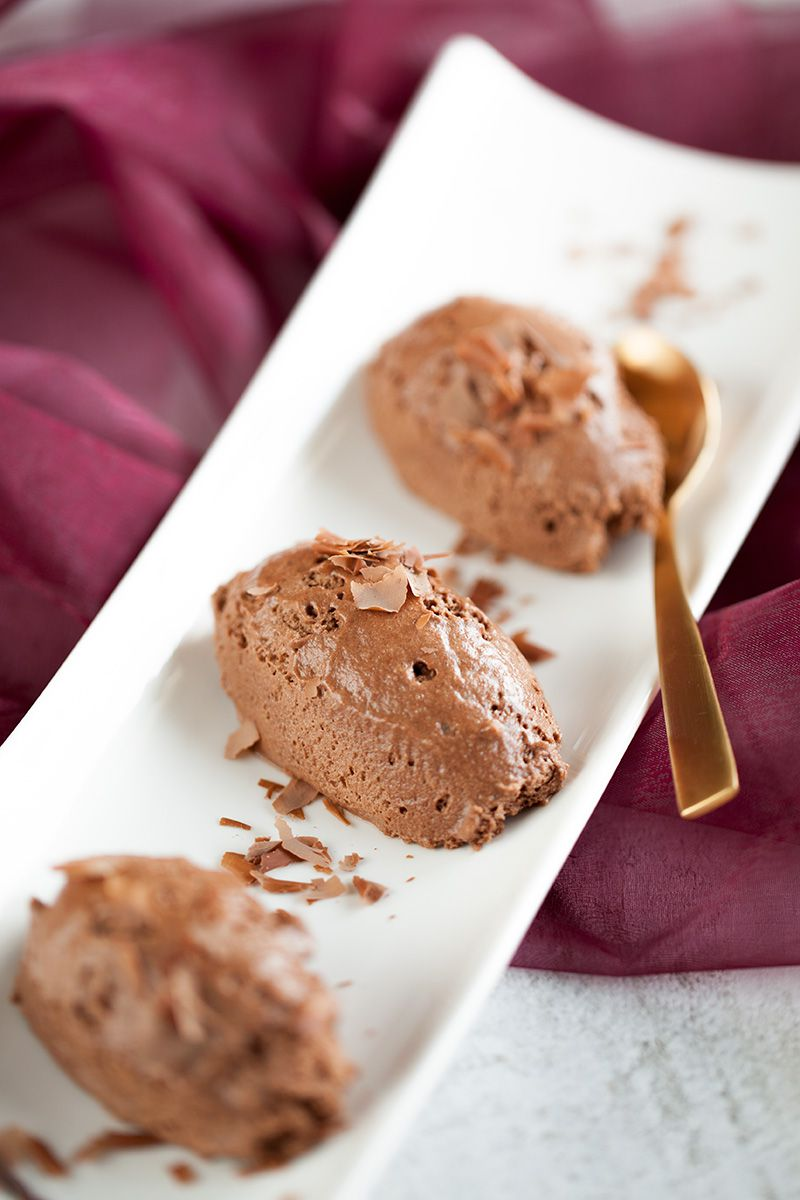 Smooth chocolate mousse
