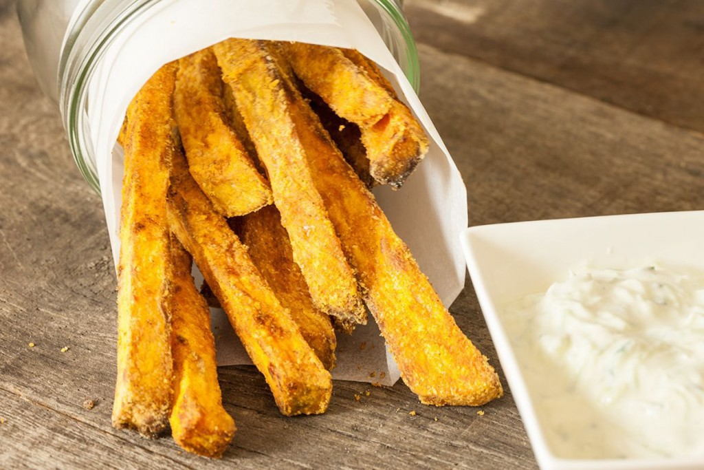 Oven Baked Sweet Potato Fries Ohmydish Com