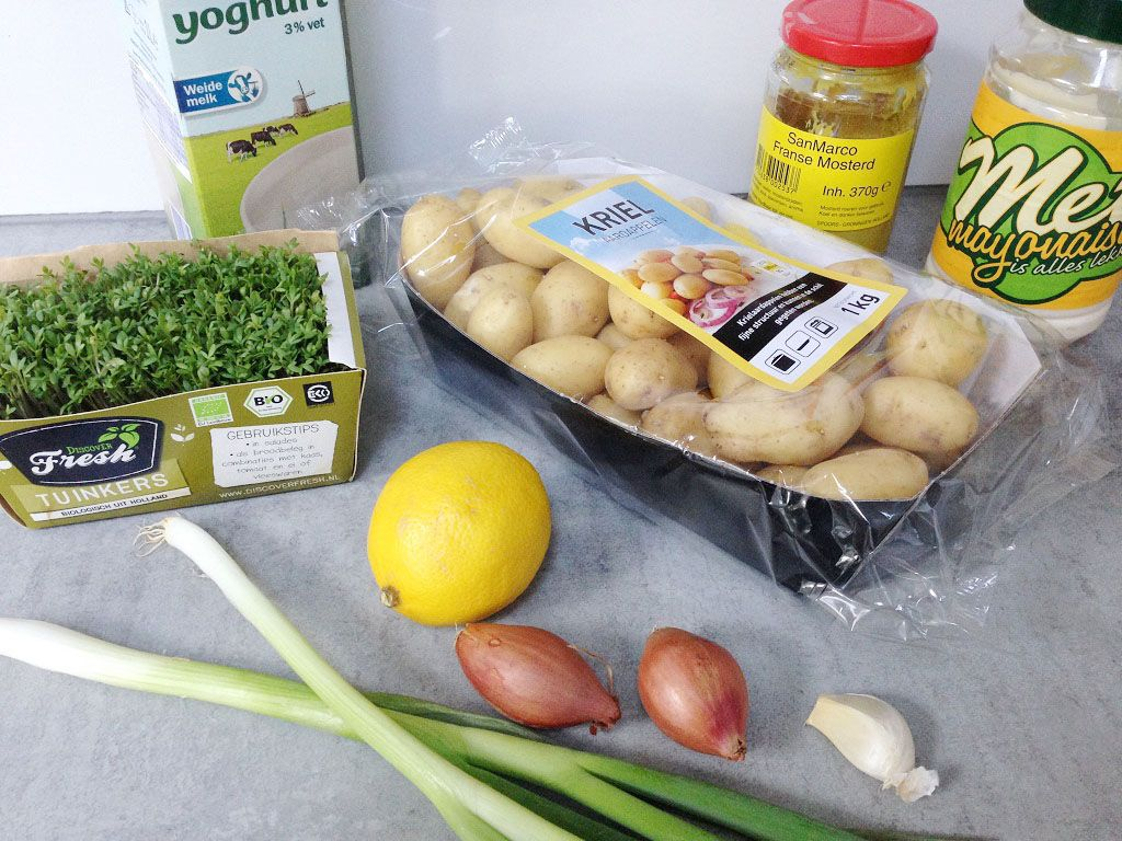 Baby potato salad ingredients