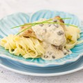 Cod with creamy caper sauce 120x120 - Cod and apple salad