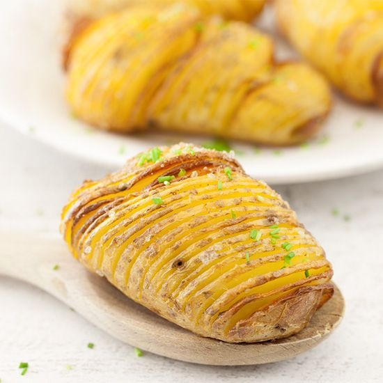 Hasselback potatoes square - Hasselback potatoes from Stockholm