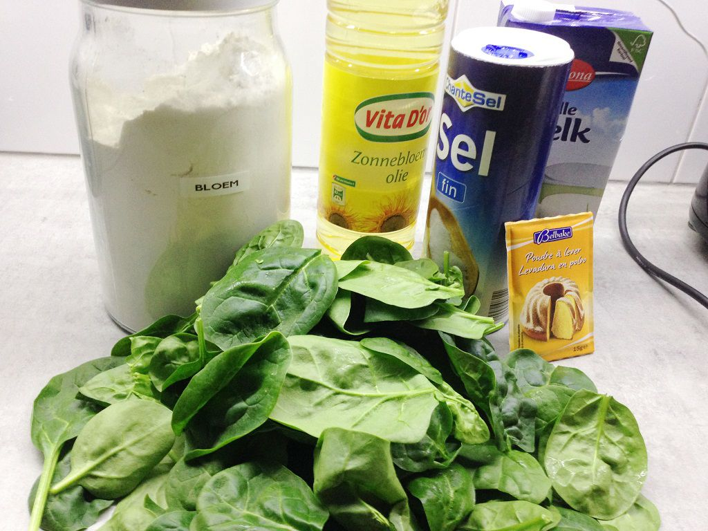 Home made spinach tortillas ingredients - Home-made spinach tortillas