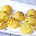 Pommes duchesse 120x120 - Oven baked camembert with pommes duchesse