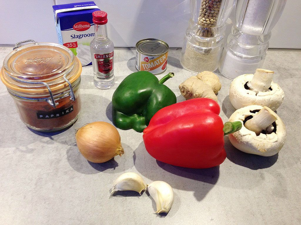 Stroganoff ingredients - Stroganoff sauce