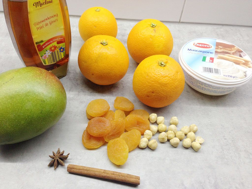 Warm apricots ingredients - Warm apricots
