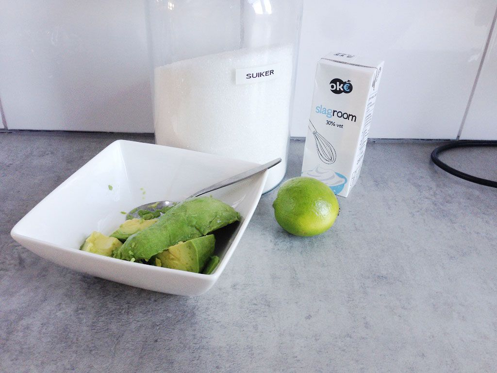 Avocado ice cream ingredients - Avocado ice cream