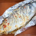 Baked sea bass with lemongrass and ginger 120x120 - Salmon baked in foil