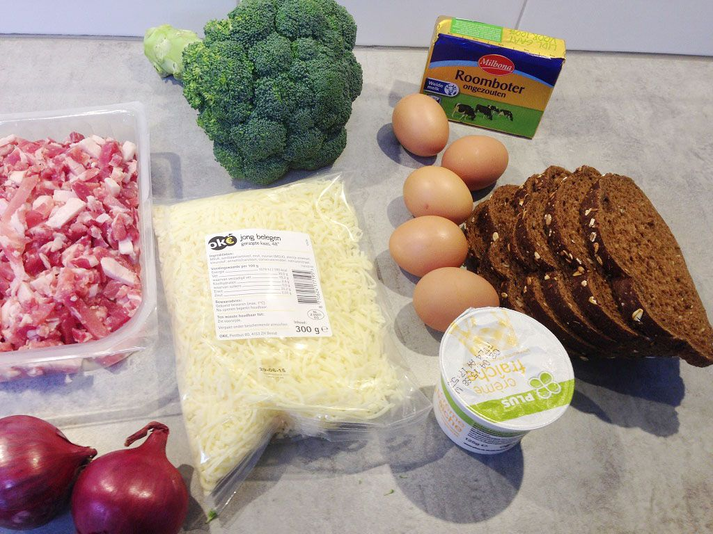 Broccoli bacon quiche ingredients - Broccoli bacon quiche
