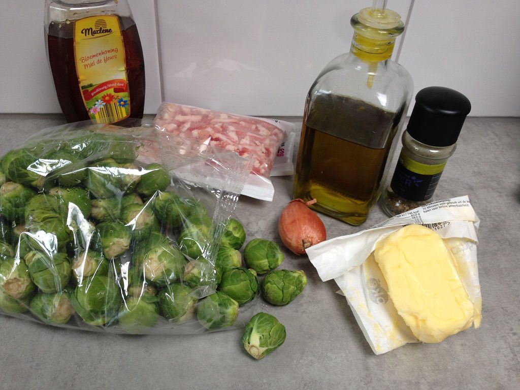 Caramelized Brussels sprouts ingredients - Caramelized Brussels sprouts