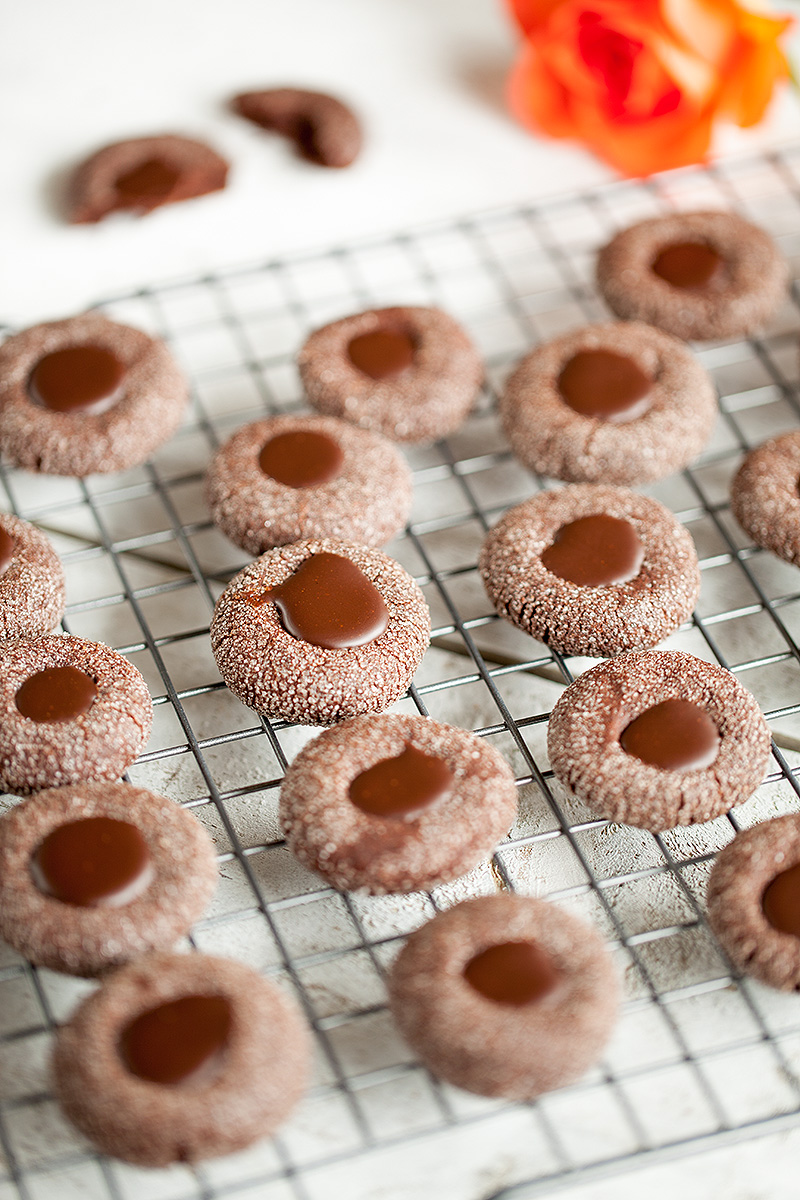 Chocolate thumbprint cookies 2 - Chocolate thumbprint cookies