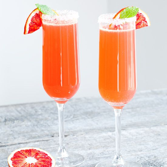 Cointreau fizz blood orange cocktail