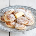 Dutch mini pancakes poffertjes 120x120 - Mini crumble plum tarts