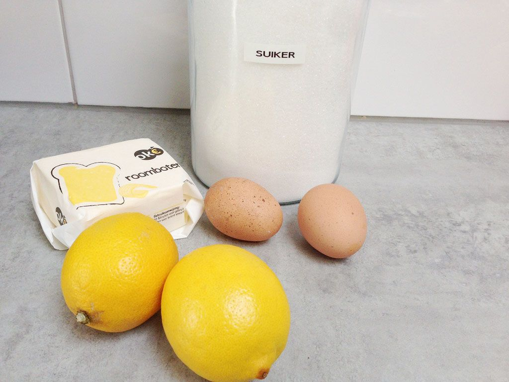 Lemon curd ingredients - Lemon curd