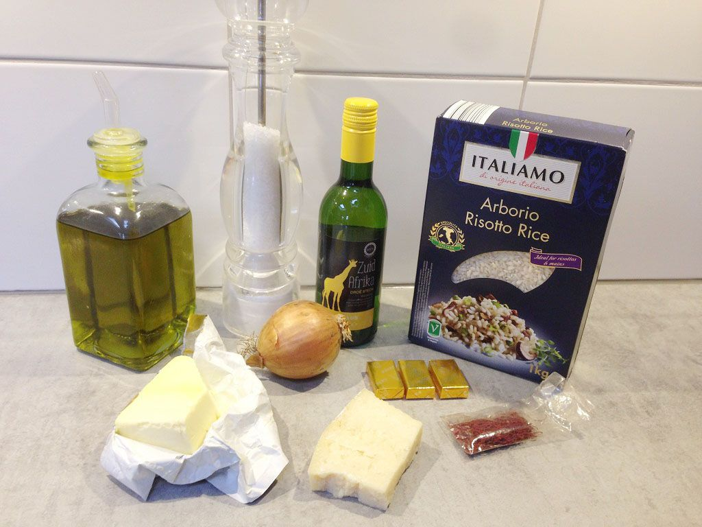 Risotto Milanese ingredients