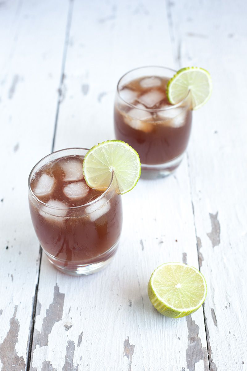 Rum lime and brown sugar cocktail
