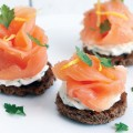 Smoked salmon with herb cheese toast 120x120 - Smoked salmon rolls