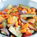 Beautiful roasted vegetables 120x120 - Roasted vegetables and tahini sauce poppadoms
