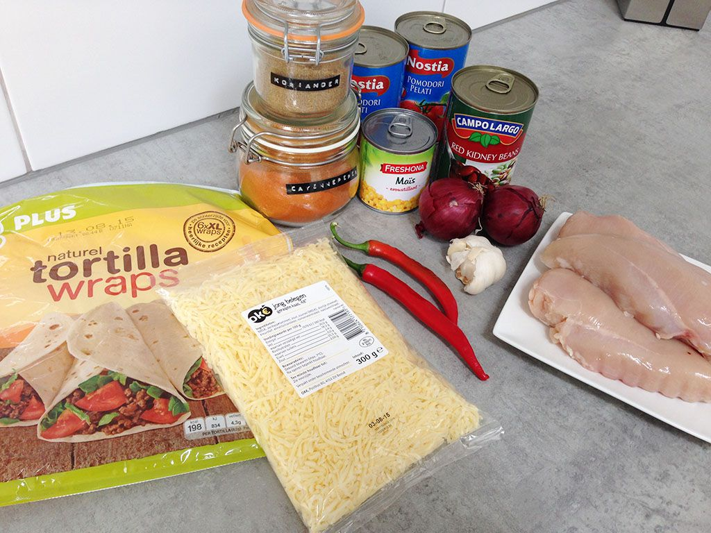 Chicken enchiladas ingredients - Chicken Enchiladas