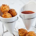 Fried mini mozzarella balls