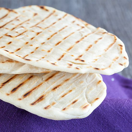 Home-made naan bread