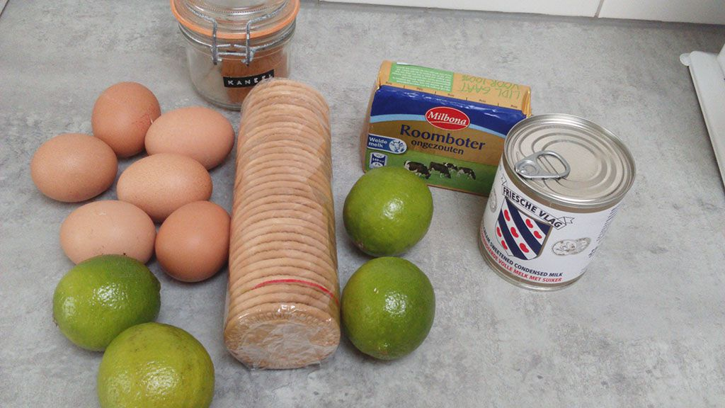 Key lime pie ingredients