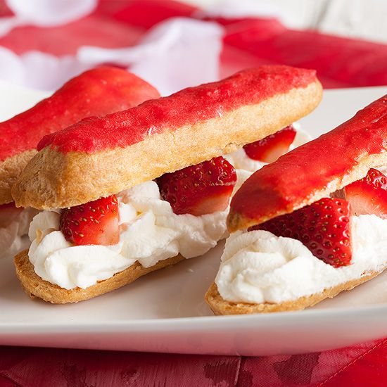Strawberry eclairs square - Strawberry eclairs