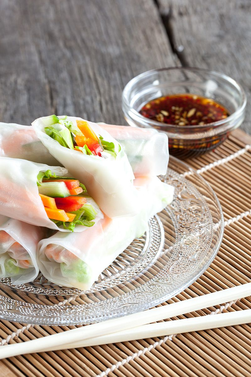Vegetarian rice paper rolls 2 - 5 Irresistible oriental recipes