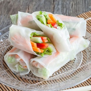 Vegetarian rice paper rolls square 300x300 - 5 Irresistible oriental recipes