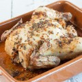 Lavender and garlic roasted chicken
