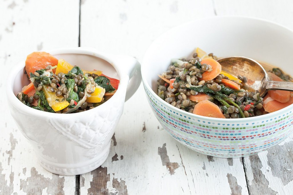 Summer lentil curry