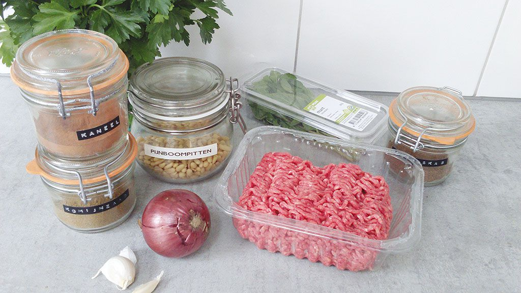 Beef kofta ingredients