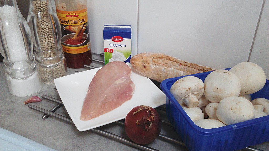 Chicken and mushroom sandwich ingredients