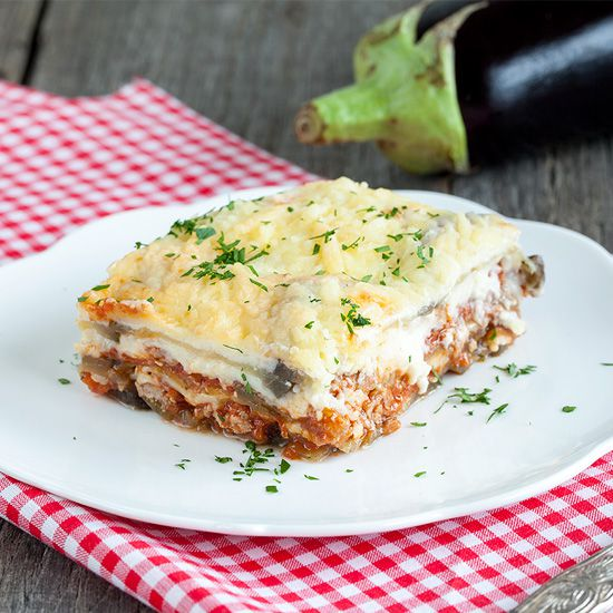Greek moussaka square - Greek moussaka
