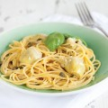 Lemon butter pasta with artichokes 120x120 - Figs and ham pasta